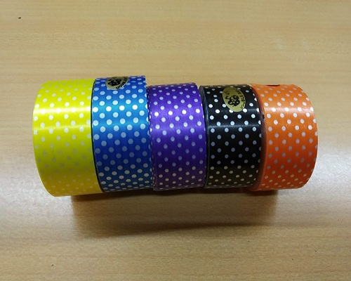 4s double bell plastic dotted ribbon