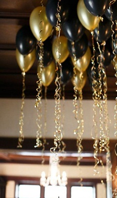 plastic ribbons balloons decoration