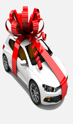 plastic ribbons car decoration