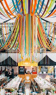plastic ribbons party decoration
