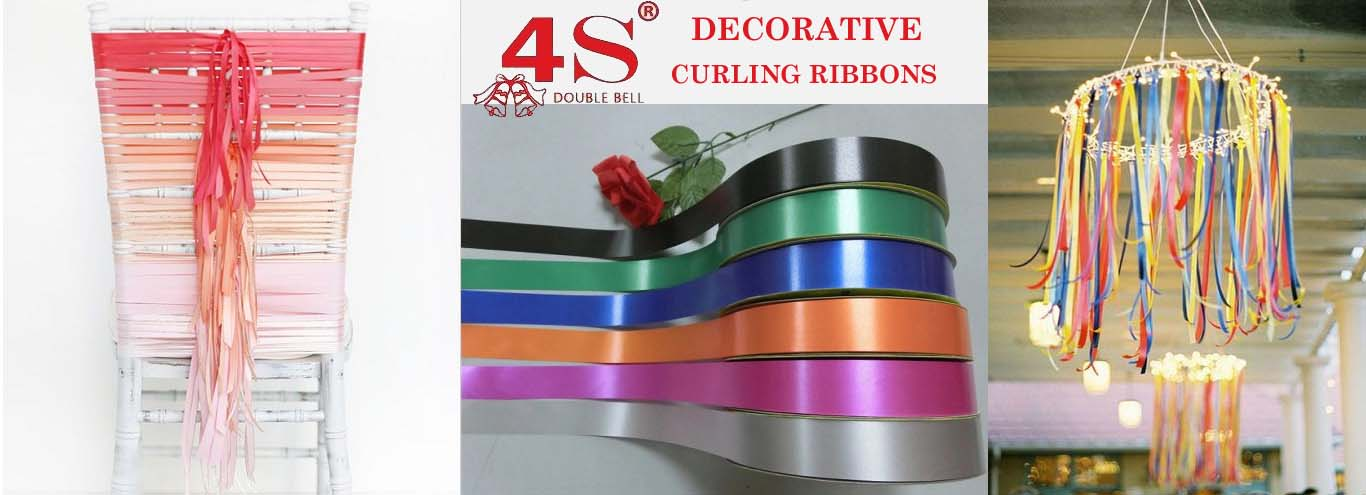 4s plastic curling ribbon decoration