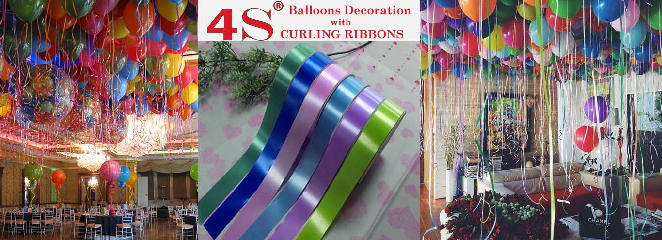 4s plastic curling ribbon for balloons