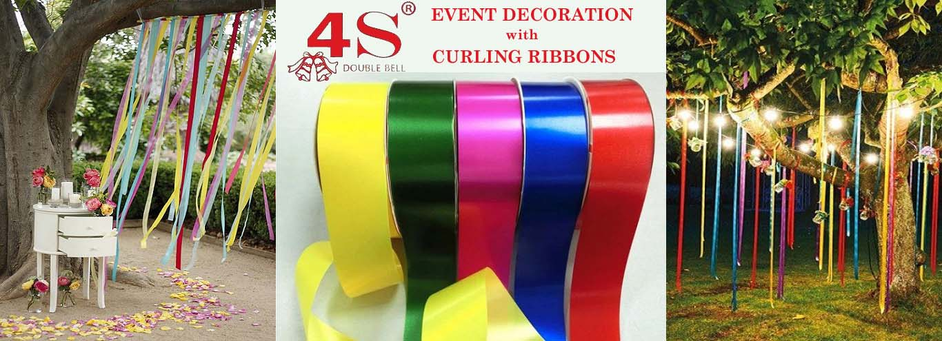 4s plastic curling ribbon for event decoration